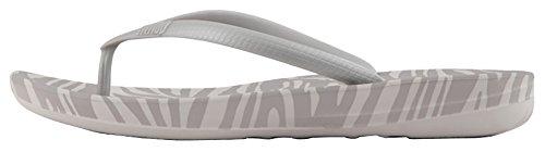 Fitflop Kvinna Iqushion Super Ergonomisk Flip-flops Mjuka Grå Tiger Print