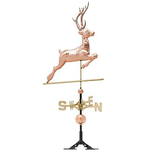 Whitehall Products Copper Deer Weathervane, Polished