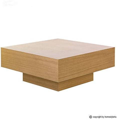 Korting Homestyle4u 1947, salontafel hout, houten tafel bijzettafel tafel woonkamer, bruin eiken  qiHGHlK