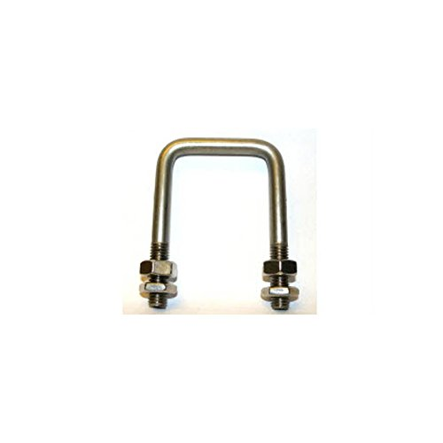 Graphskill Square Bolt (C Bolt) M10 x 80 mm Thread, 80 x 150 mm Internal Dimensions - T304 Stainless Steel (A2) Pack Size : 1