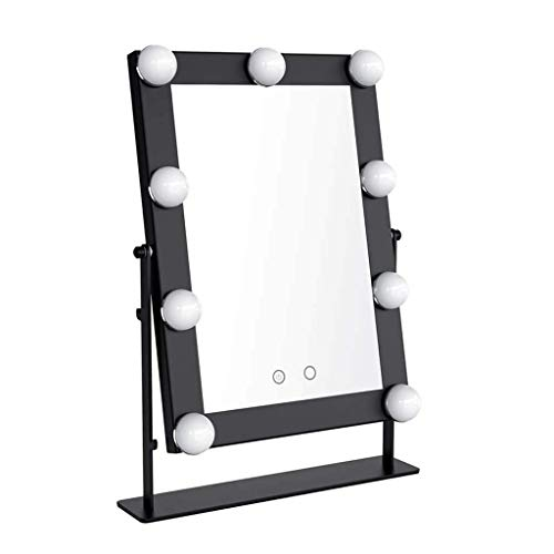 AIMEE-JL Large Makeup Mirror with 9 Big LED Bulbs Lighted Vanity Mirrors -