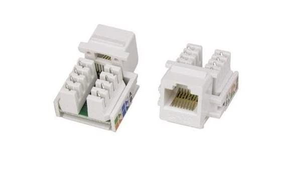 Amazon.com: 100 Pack - Cat5e Keystone Jack in White: Electronics on cat 5 wall jack diagram, cat5e pinout diagram, keystone jack specifications, cat5 termination diagram, rj45 punch down diagram, cat 6 jack diagram, rj45 jack diagram, cat5e jack diagram, keystone jack dimensions,