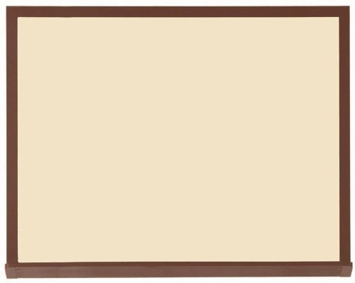 Architectural High Performance Magnetic Wall Mounted Whiteboard Surface Color Low Gloss White V2, Size: 4' H x 5' W, Frame Finish: Walnut Wood Grain
