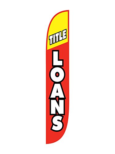 Lookourway Title Loans Red Yellow Feather Flag  12 Feet