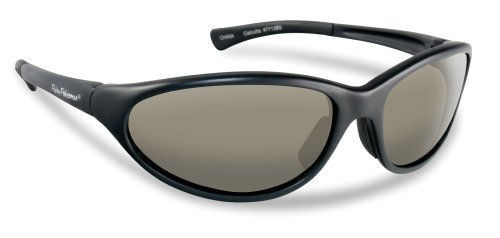 Flying Fisherman Calcutta Polarized Sunglasses, Matte Black Frame, Smoke - Fisherman Sunglasses