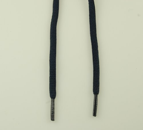 Oval Shoelaces Navy Blue 45'' 7 Pr. Eyelets 6mm Thick Sneakers Shoelace