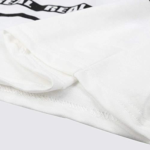 Magliettadell'elastico Manicotto xl Manica Bianca Bicchierino Juqilu Donne Delle Della Del Letterata S Stampate Letteratura Lunga Pullover Inglese PqYBOZ