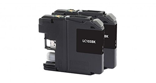 Inksters Compatible Ink Cartridges for Brother LC-103XL - High Yield Black (2-Pack)