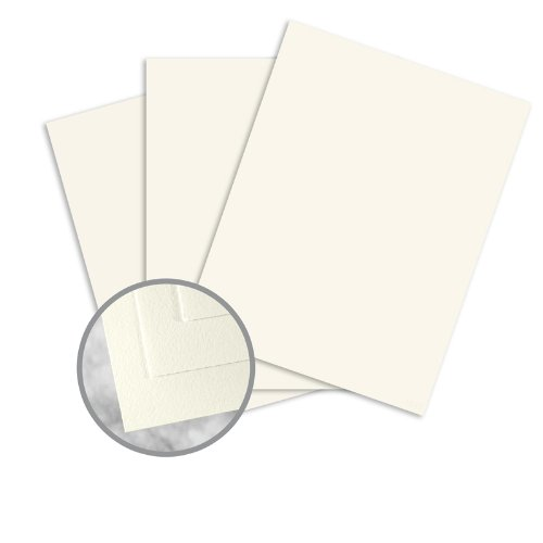 CRANE'S CREST Pearl White Paper - 8 1/2 x 11 in 28 lb Writing Wove 100% Cotton Watermarked 500 per Ream by Neenah (Image #1)