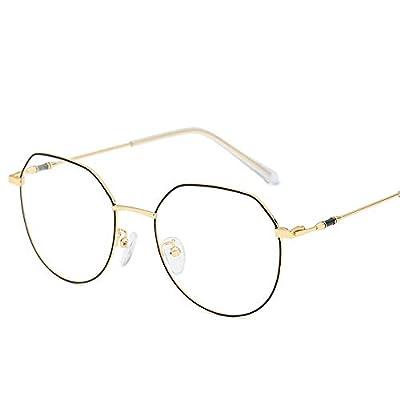 FeliciaJuan Adult Glasses Female Poly Metal Frame Glasses General Computer Goggles Men and Women