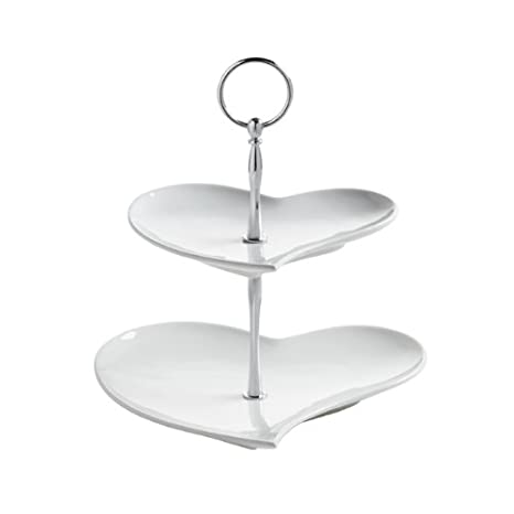 amazon com maxwell williams amore hearts 2 tier cake stand