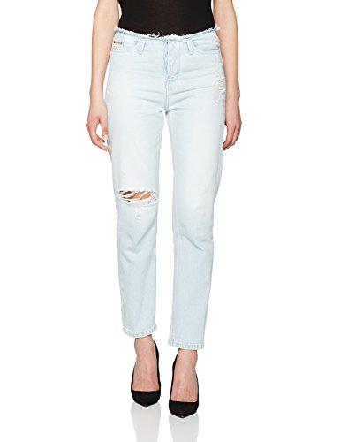 Calvin Klein Jeans Slim Friend Cut Wb- Vintage Splatter, Mujer Azul (Vintage Splatter)