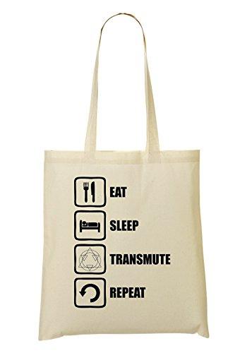 LukeTee Fullmetal Alchemist Inspired Eat Sleep Transmute Repeat Bolso De Mano Bolsa De La Compra