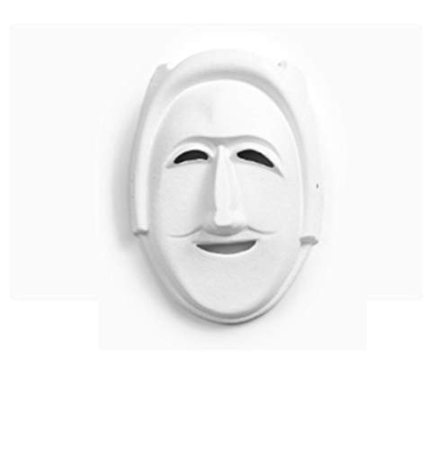 AND Kindergarten DIY Blank Facebook Mask White Beijing Opera Horse Spoon Children's Painting Halloween White Embryo Hand-Painted Mask -
