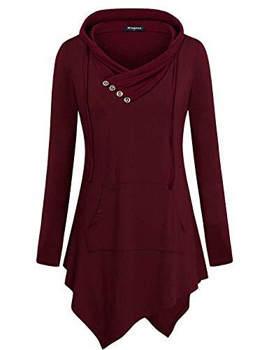 cowl neck hoodie woman - 8