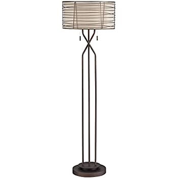 Marlowe woven bronze metal floor lamp amazon marlowe woven bronze metal floor lamp aloadofball Image collections