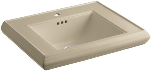 KOHLER K-2259-1-33 Memoirs Pedestal Bathroom Sink Basin with Single-Hole Faucet Drilling, Mexican -