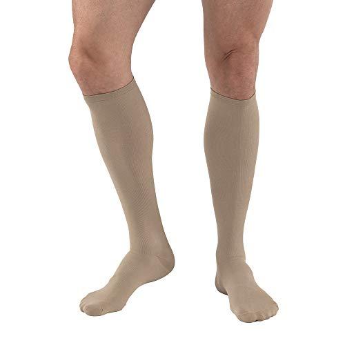 JOBST Travel Compression Socks, 15-20 mmHg, Knee High, Size 3, Beige