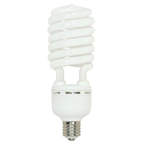 (Pack of 6) Satco S7395, 105 Watt (400 Watt) 7000 Lumens Hi-Pro Spiral CFL Cool White 4100K Mogul Base 120 Volt Light Bulb, Compact Fluorescent Bulb