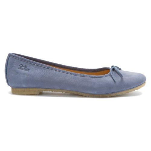Clarks Donna Originale Lia Grace Ballet Flat Blue
