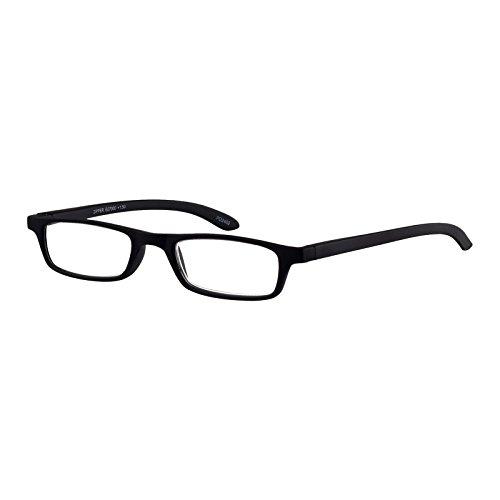 I NEED YOU Rectangular Reading Eyeglasses Black Zipper Designer Frames For Men & Women With Spring Hinge And High-Quality Plastic Lenses - Prescription Eyewear With Power - Awesome Prescription Glasses