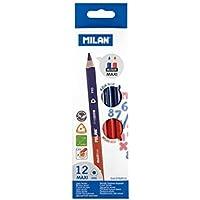 Milan Maxi - Caja con 12 lápices bicolores