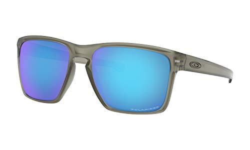 Oakley Sliver XL Sunglasses Matte Grey Ink with Sapphire Iridium Polarized ()