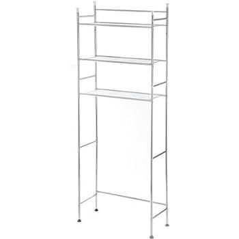 mainstays 3 shelf bathroom space saver in chrome finish with 4 piece bathroom. Black Bedroom Furniture Sets. Home Design Ideas