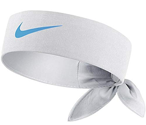Nike Tennis Tie Headband (White/University Blue)
