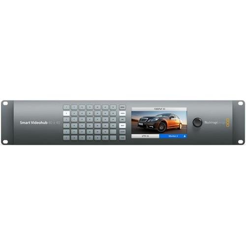 Blackmagic Design Smart Videohub 40x40 Mixed Format Router, 10-Bit SD/HD/6G-SDI Video Input/Output, SD/HD/2K/4K Format Support, 4:2:2/4:4:4 Video Sampling by Blackmagic Design
