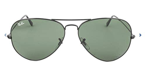 Ray-Ban Unisex 3026 Aviator 62mm Black/G-15xlt Lens One Size (Buy Ban Rb3025 Ray)