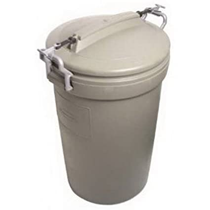 Rubbermaid Animal Stopper Trash Can, 32 Gallon, Olive (RM5F8201)