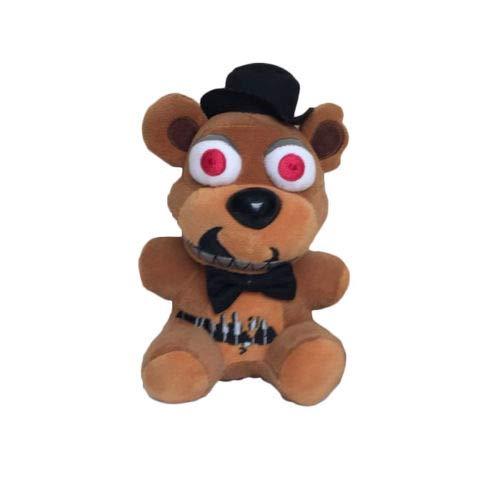 FAVOTOY Plush Toys Five Nights at Freddy's Sister Location Freddy Bear Bonnie Foxy Baby Ballora Clown Plush Stuffed Toys Doll Collectible Gift for Kids Children Birthday-1Pcs (Freddy ()