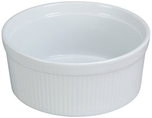 Yanco SF-132 Souffle Bowl, Fluted, 32 oz Capacity,  6
