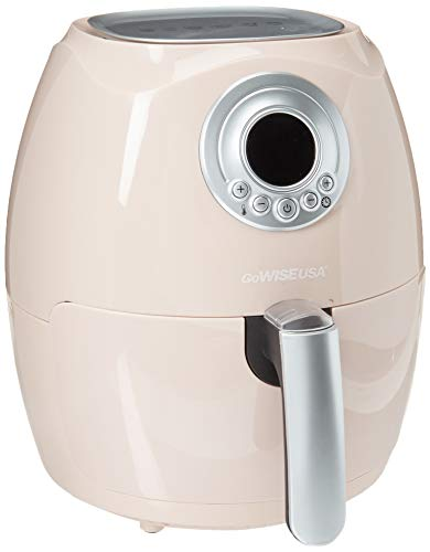 GoWISE USA GW22663 GW22662 2.75-Quart Air Fryer + 50 Recipes (Blush), QT