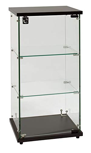 """SSWBasics Infinity Countertop Display Case (Ready to Assemble) - 12-1/4""""W x 14-1/4""""D x 27-1/4""""H"""