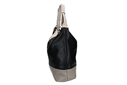 Tasche damen schulter RENATO BALESTRA schwarz ffnung zip VN1923