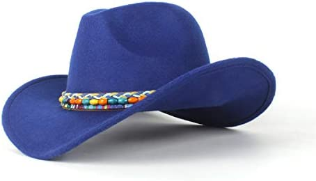 c21ce9e5d Summer Outing Ladies Pure Wool Felt Western Cowboy Hat Wide-brimmed ...