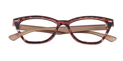 Glassesshop Classic Vintage Inspired Cat Eye Clear Lens Prescription Eyeglasses Frame Tortoise