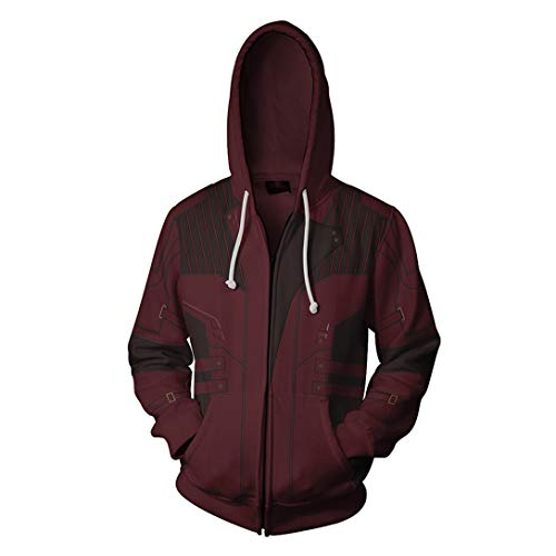 HIMIC E77C Super Hero Fashion Cosplay Hoodie Jacket (XX-Large, Star-Lord)]()