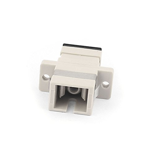 Aexit SC/SC Simplex Transmission MM SM Fiber Optical Flange Adapter Cable Connector Gray