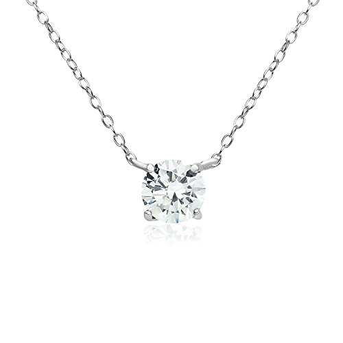 (Sterling Silver Choker Necklace Made with Swarovski Crystals)