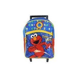 Amazon.com: Sesame Street Elmo Rolling Backpack - Elmo Kid Size ...
