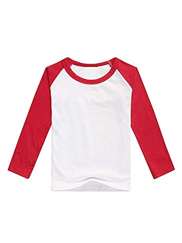 American Apparel Infant Poly-Cotton 3/4 Sleeve Raglan - White/Red / 6-12M American Apparel Jersey Tee
