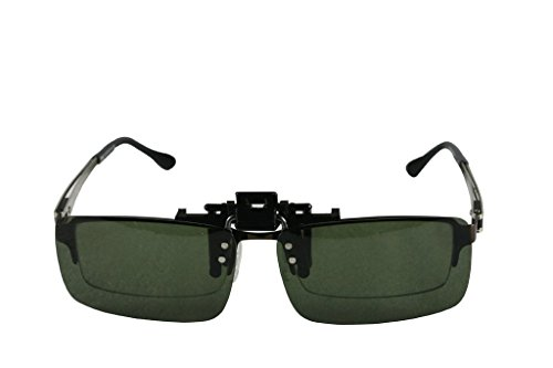 hombre de polarizadas sol LTS005 up verde 60mm mujer clip on Jee Gafas flip twfFqWH