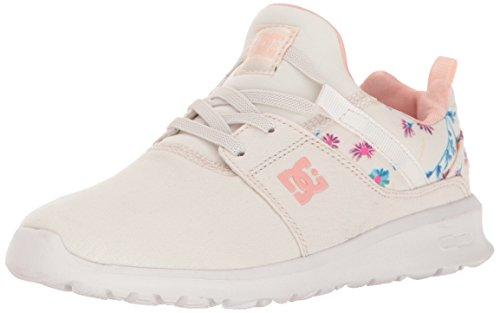 DC Girls' Heathrow Sneaker, Cream, 1 M US Little Kid