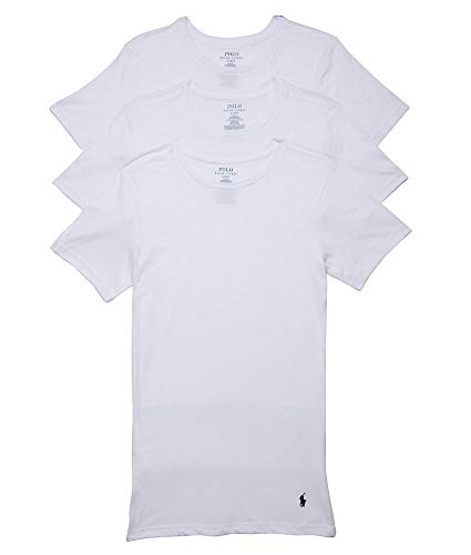 Polo Ralph Lauren Men's Classic Fit w/Wicking 3-Pack Crews 3 White/Cruise Navy Pp Large (Ralph Ralph Lauren)