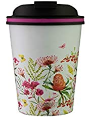 Avanti Go Cup Double Wall Travel Cup, Australian Natives White, 13464