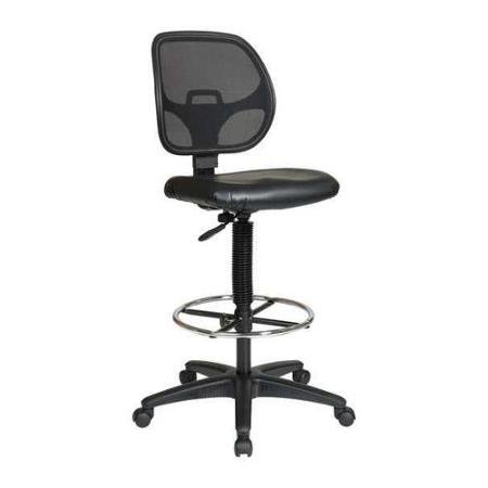OFFICE STAR DC2990V Chair, Drafting, Fabric/Metal, Black by Supernon