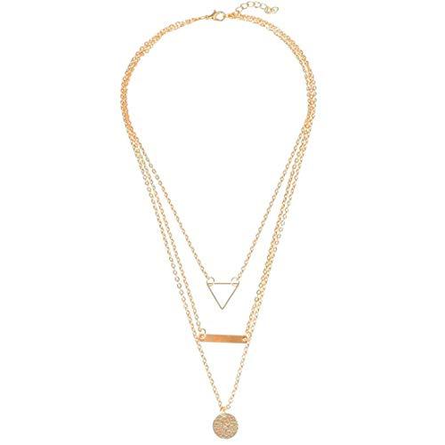 Jewels Galaxy Geometric Multi Layered Ravishing Necklace for Women/Girls